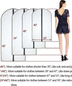 Garment Bags Protect Dress Shirts Coats for Closet Suit Storage