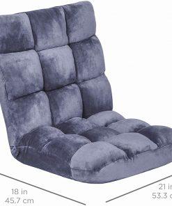14-Position Memory Foam Folding Cushion Adjustable Gaming Floor Sofa Chair