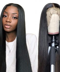Straight Hair 13*4 Transparent Lace Front Wig Human Hair Wigs Bling Hair