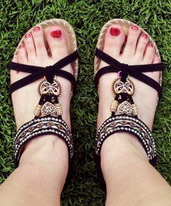 Bohemian Sandals – Womens Summer Comfort Flats Sandals