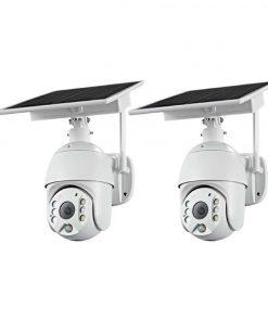 Bundle Of x2 Solar Powered Security Cameras