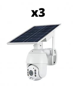 Bundle Of x3 Solar Powered Security Cameras
